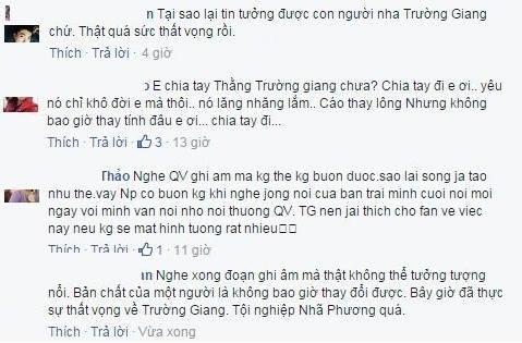 Fan khuyên Nhã Phương nên bỏ Trường Giang sau vụ clip Quế Vân - ảnh 3