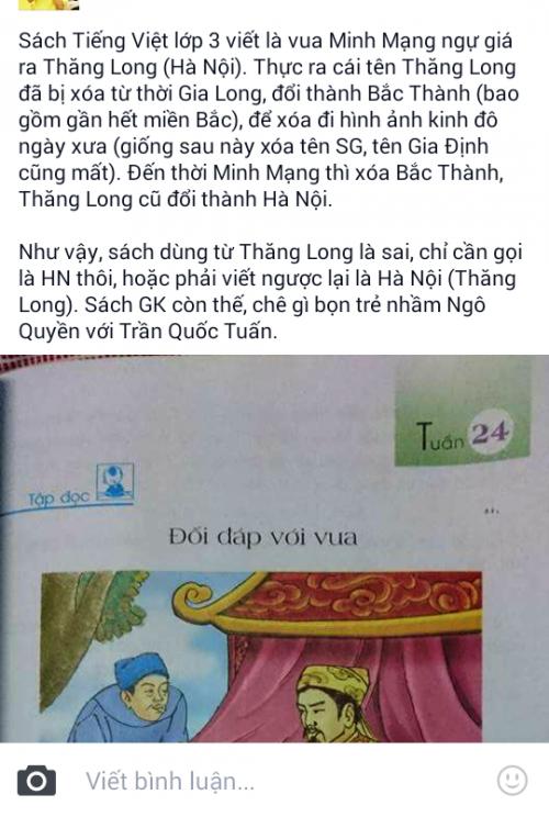 Tiếng Việt lớp 3 viết sai địa danh lịch sử: Cách viết đó rất khôn - ảnh 1
