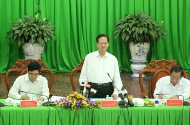 Khẩn cấp hỗ trợ Đồng bằng sông Cửu Long ứng phó hạn mặn - ảnh 1