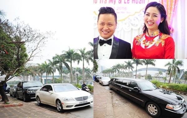 Chồng Á hậu Ngô Trà My đưa dàn siêu xe và Limousine đến hỏi vợ - ảnh 1