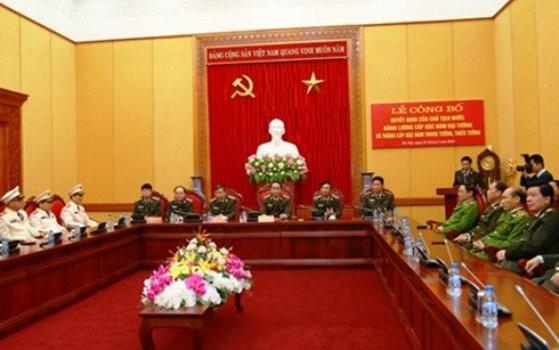 Thăng cấp tướng một số lãnh đạo, chỉ huy Bộ Công an - ảnh 1