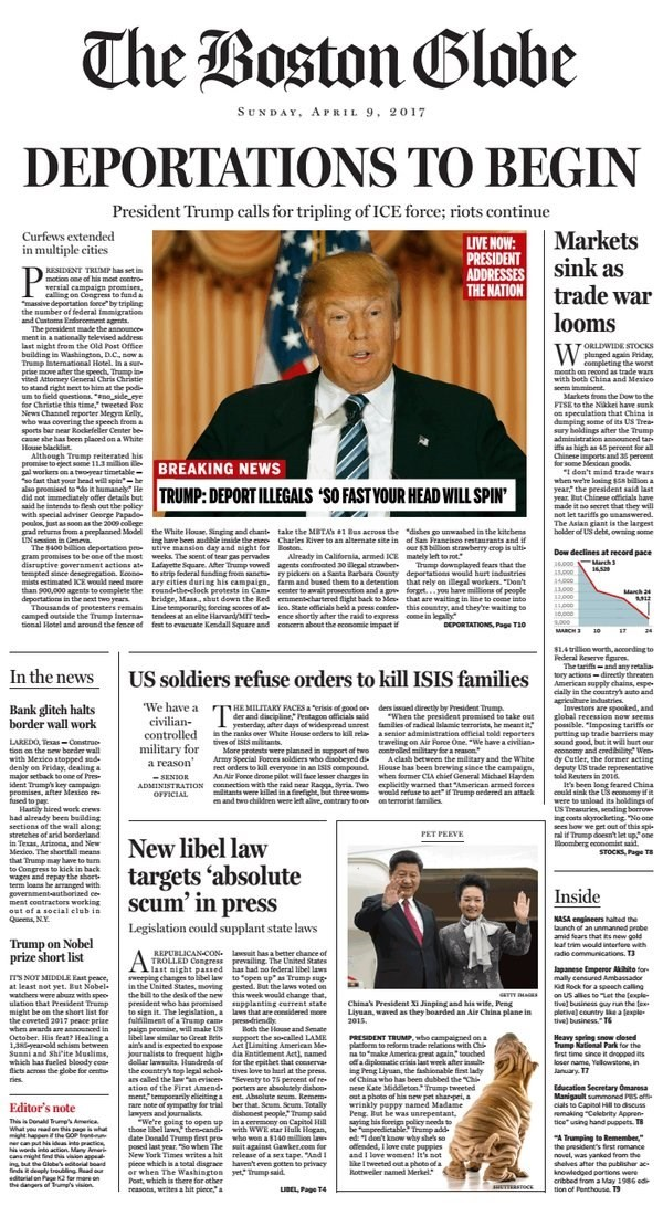 Báo Mỹ châm biếm viễn cảnh nếu 'Donald Trump làm tổng thống' - ảnh 1