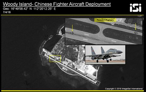 Chiến đấu cơ Shenyang J-11 của TQ xuất hiện ở đảo Phú Lâm - ảnh 1