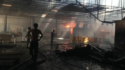 Cháy nổ lớn tại xưởng gỗ 8.000m2, thiệt hại hàng tỷ đồng - ảnh 1