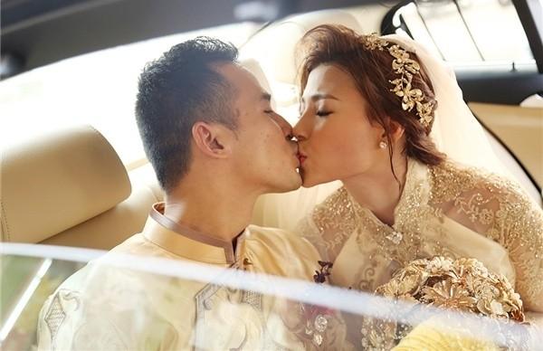 Cô dâu Thúy Diễm lâng lâng hạnh phúc vì nhiều người thương - ảnh 1