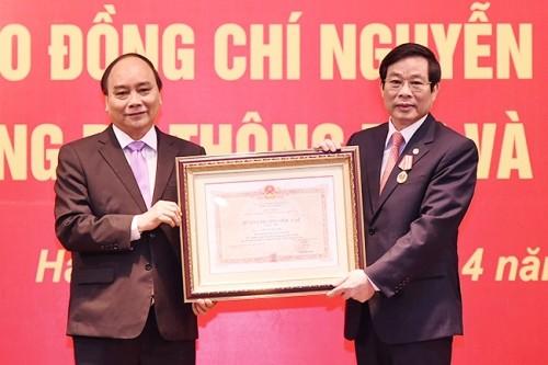 Nguyên Bộ trưởng TT&TT nhận Huân chương Độc lập hạng Nhì - ảnh 1