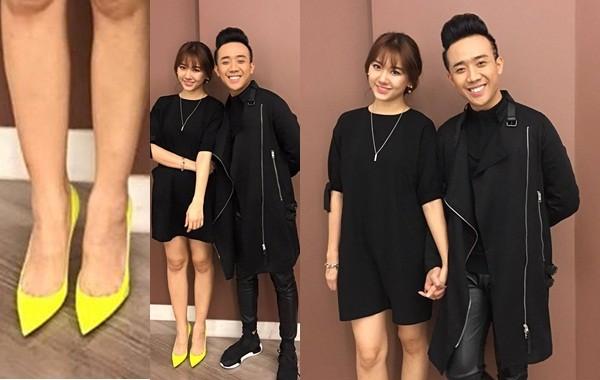 Hari Won bị 'ném đá' vì thời trang lạ khi ton sur ton Trấn Thành - ảnh 1