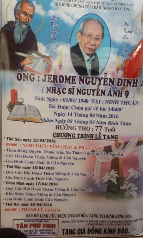 Dàn nghệ sĩ Việt xúc động đến viếng đám tang nhạc sĩ Nguyễn Ánh 9 - ảnh 3