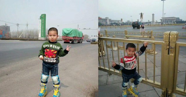Bố cùng con trai 4 tuổi trượt patin hơn 540 km đến Bắc Kinh - ảnh 1