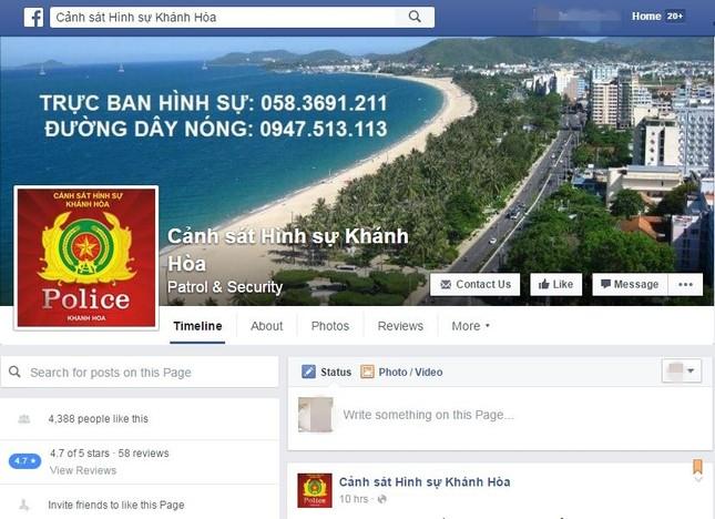 Cảnh sát hình sự lập Facebook trấn áp tội phạm - ảnh 1
