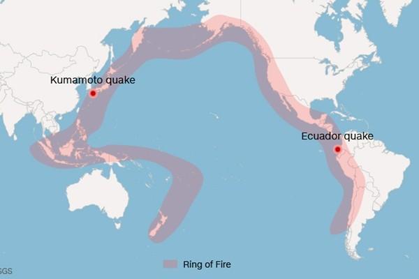 Động đất ở Nhật Bản và Ecuador liệu có liên quan tới nhau? - ảnh 1