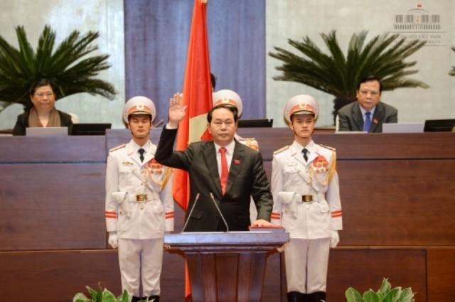 Tân Chủ tịch nước Trần Đại Quang tuyên thệ nhậm chức - ảnh 1