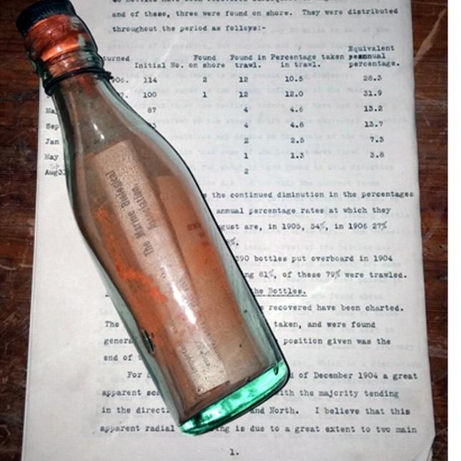 Tin nhắn trong chai 108 tuổi lâu đời nhất thế giới - ảnh 1
