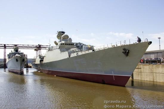 Toàn cảnh lễ hạ thủy tàu Gepard thứ ba cho Hải quân Việt Nam - ảnh 1