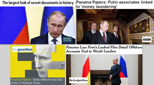 RT chỉ trích phương Tây đăng ảnh Putin liên quan đến Hồ sơ Panama - ảnh 1