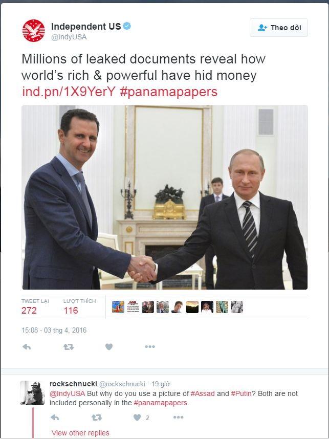 RT chỉ trích phương Tây đăng ảnh Putin liên quan đến Hồ sơ Panama - ảnh 2