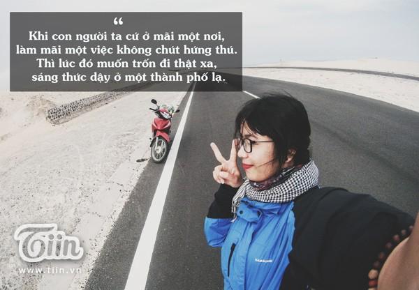 Nữ phượt thủ 'cô đơn đi trốn' độc hành 1.950km - ảnh 1