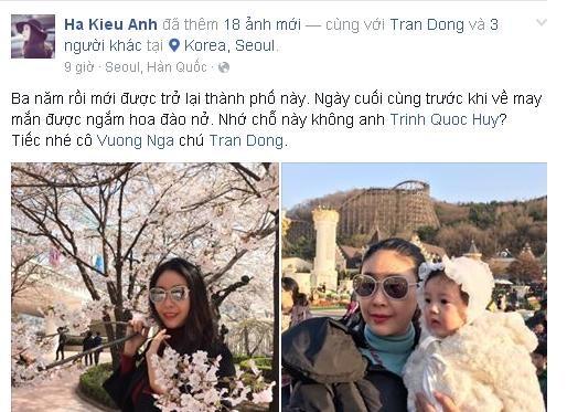 Hoa hậu Hà Kiều Anh rạng ngời cùng các con ngắm hoa anh đào - ảnh 2