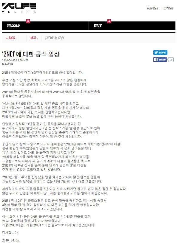 Fan 'náo loạn' vì Minzy chuẩn bị rời YG, 2NE1 tan rã - ảnh 4