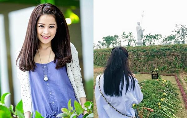 Chi Pu tới viếng mộ Trần Lập và Thanh Tùng tại Phú Thọ - ảnh 1