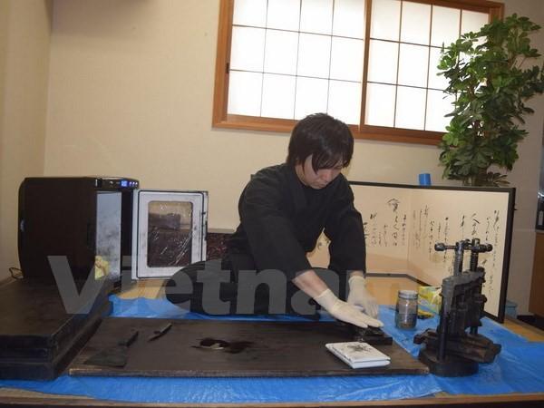 Khám phá quy trình làm mực viết thư pháp 1.200 năm tuổi ở Nhật - ảnh 2
