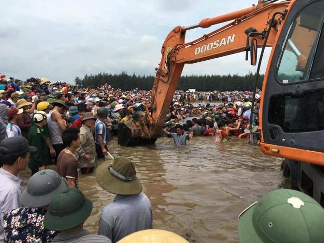 Giải cứu cá voi khổng lồ mắc kẹt ở bờ biển Nghệ An - ảnh 2