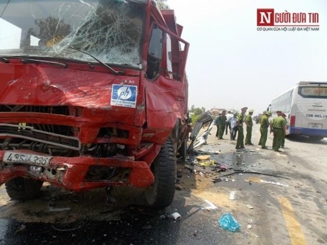 Quảng Ngãi: Danh tính 4 người chết trong vụ tai nạn thảm khốc - ảnh 1