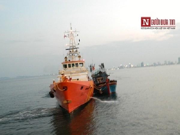 Tàu câu mực bị đâm chìm ở Hoàng Sa, 34 ngư dân gặp nạn - ảnh 1
