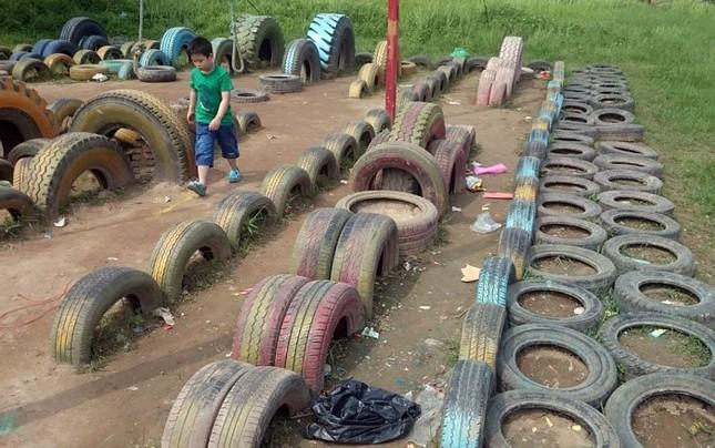 Sau kỳ nghỉ lễ công viên Yên Sở ngập trong rác - ảnh 5