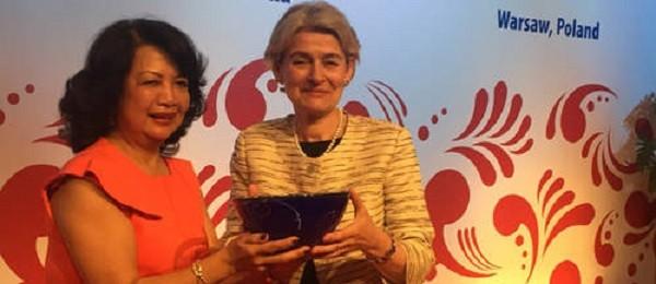 Bà Irina Bokova nhận giải Lãnh đạo nữ Toàn cầu  - ảnh 3
