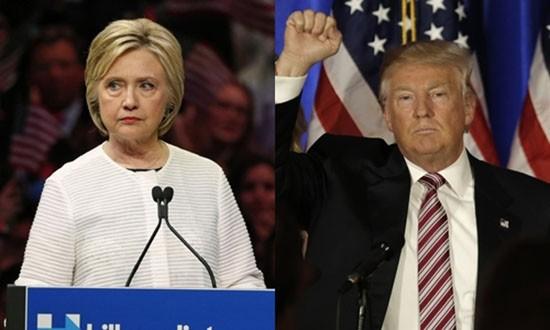 Bà Clinton, ông Trump sắp đối đầu gay gắt trong cuộc đua vào Nhà  - ảnh 1