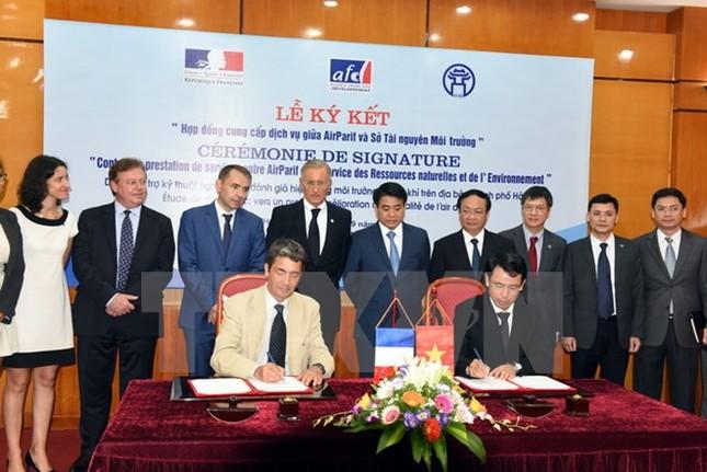 Pháp hỗ trợ 120.000 euro giúp Hà Nội quản lý môi trường không khí - ảnh 1