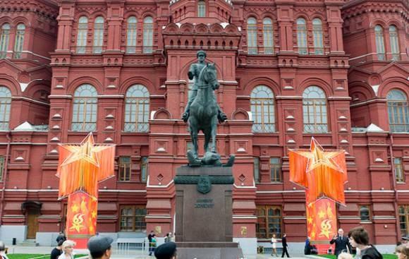 Đường phố Nga ngập tràn sắc đỏ kỷ niệm ngày chiến thắng phát xít - anh 11