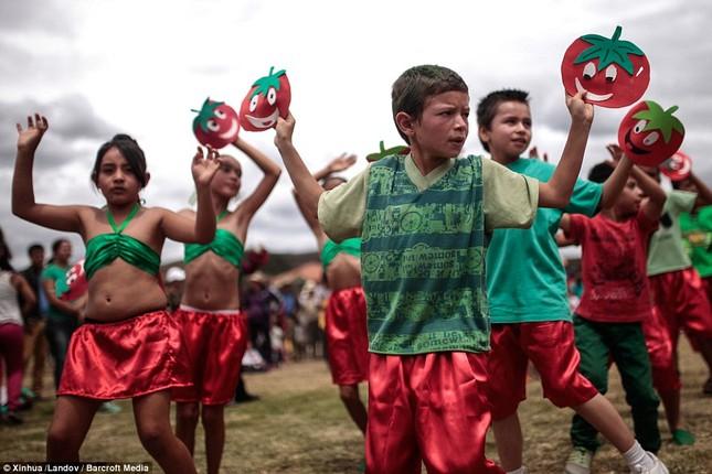 Những hình ảnh đẹp của lễ hội cà chua ở Colombia - anh 4