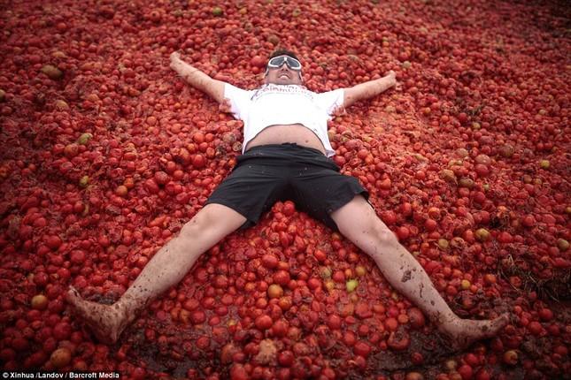 Những hình ảnh đẹp của lễ hội cà chua ở Colombia - anh 8