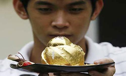 Đã mắt ngắm những món ăn sang chảnh bằng vàng thật trên thế giới - anh 4