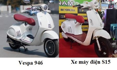Tận mắt ngắm xe đạp điện Trung Quốc nhái siêu phẩm Vespa 946 - anh 1