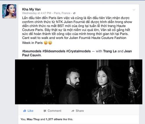 Kha Mỹ Vân đầy cá tính mở màn cho show diễn cao cấp tại Paris - anh 5