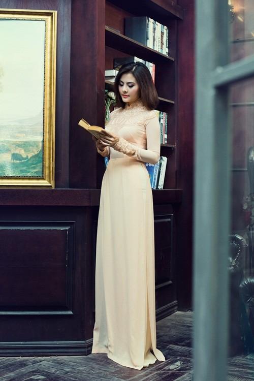 Vân Trang hóa thân làm cô dâu dịu dàng trong tà áo dài của NTK Huỳnh Lợi - anh 2