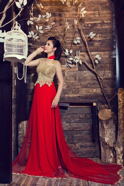 Vân Trang hóa thân làm cô dâu dịu dàng trong tà áo dài của NTK Huỳnh Lợi - anh 6