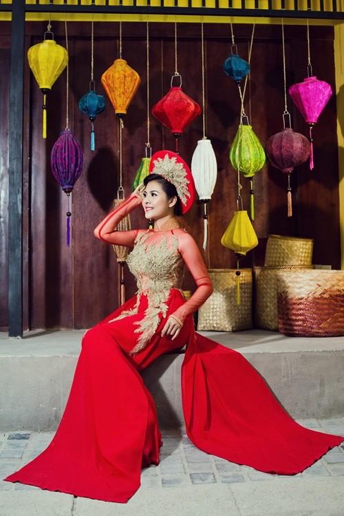 Vân Trang hóa thân làm cô dâu dịu dàng trong tà áo dài của NTK Huỳnh Lợi - anh 9