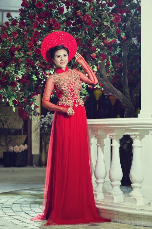 Vân Trang hóa thân làm cô dâu dịu dàng trong tà áo dài của NTK Huỳnh Lợi - anh 13