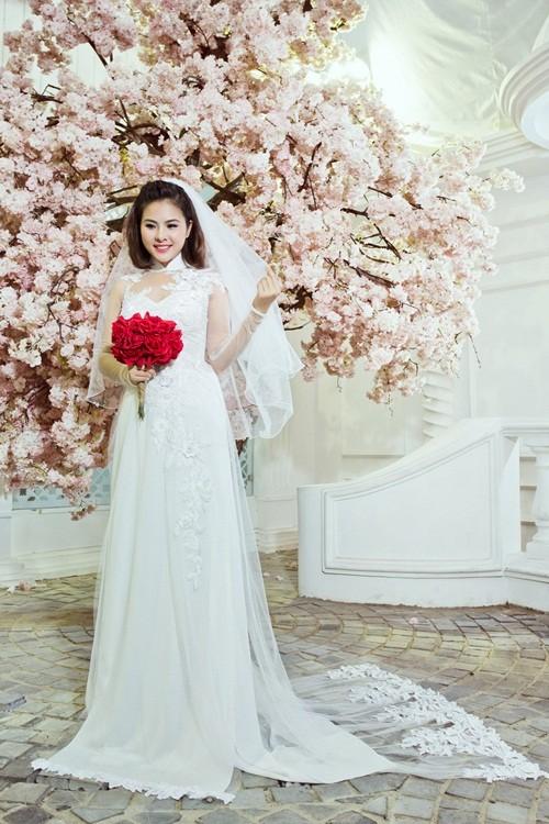 Vân Trang hóa thân làm cô dâu dịu dàng trong tà áo dài của NTK Huỳnh Lợi - anh 16