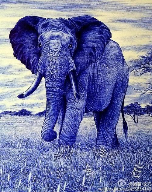 10 bức tranh vẽ bằng bút bi đẹp đến khó tin - anh 2