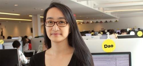 Tài năng của cô gái gốc Việt làm lãnh đạo trên báo Mỹ - anh 1
