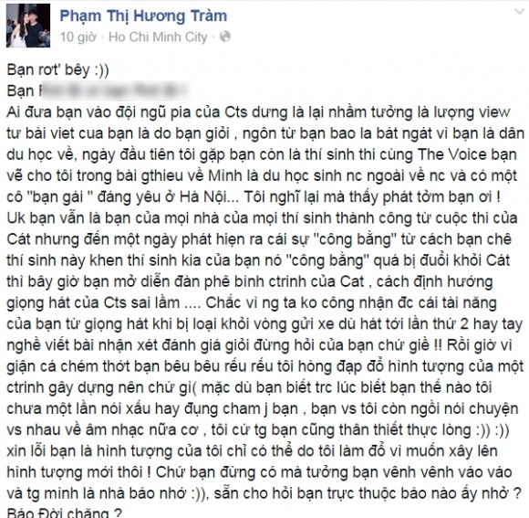 Hương Tràm lại gây 'bão mạng' vì 'cạnh khóe' thí sinh cùng thi The Voice - anh 1