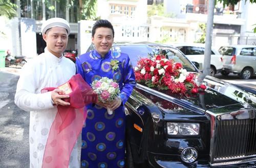 Lam Trường mặc áo dài truyền thống trong lễ ăn hỏi - anh 4