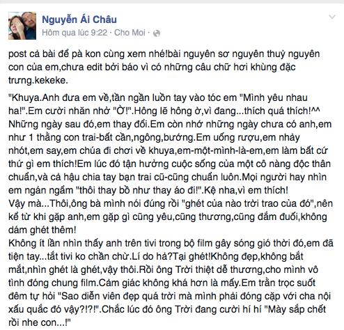 Nhịp đập showbiz: Á hậu Ái Châu chê chồng, Phi Thanh Vân tình cảm bên trai lạ... - anh 1