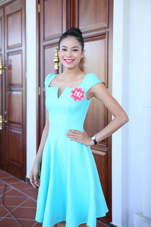 Hoa hậu Việt Nam 2014: Các thí sinh rạng rỡ trước thềm chung kết - anh 10