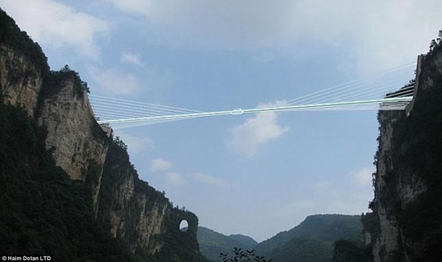Ngắm cây cầu bằng kính cao nhất thế giới ở Trung Quốc - anh 5